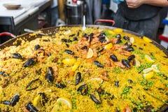 Włoski owoce morza risotto obraz royalty free