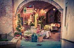 Włoski pizzeria w Tuscany Zdjęcia Royalty Free