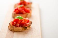 Włoski pomidorowy bruschetta Zdjęcia Stock