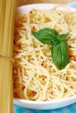 włoski prosty spaghetti Zdjęcie Royalty Free