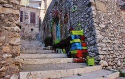 Włoski szczytu miasteczko, Sant ` Oreste Obraz Royalty Free