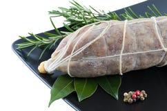 Włoski wieprzowina salami Zdjęcia Stock