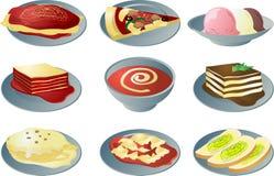 włoskie kuchni ikony Obrazy Royalty Free