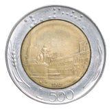 Włoskiego lira moneta Fotografia Royalty Free