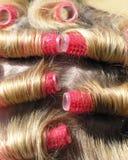 włosy curlers Zdjęcia Royalty Free