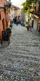 Włoszczyzn kamienne ulicy zdjęcia royalty free