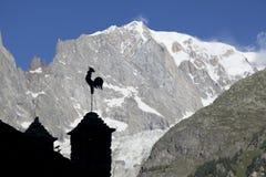 Włoszczyzny Mont Blanc lata boczny krajobraz Mont Blanc jest wysokim szczytem europejscy Zachodni Alps Fotografia Royalty Free