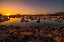 Włoszczyzny Riviera Marina przy zmierzchem Obrazy Stock