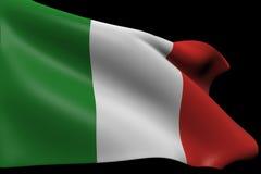 we włoszech bandery Obrazy Royalty Free