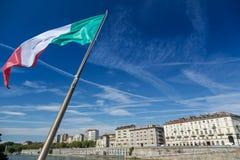 we włoszech bandery Fotografia Royalty Free