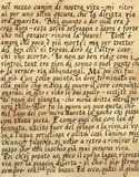we włoszech kaligrafii Obrazy Stock