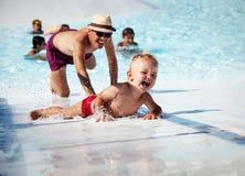 W pływackim basenie Obrazy Royalty Free