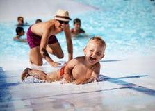 W pływackim basenie Zdjęcia Royalty Free