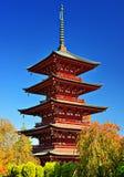 W pagodzie w Hirosaki, Japonia Fotografia Stock