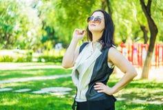 W parku biznesowa kobieta Fotografia Stock