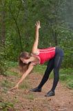 W parku ranek ćwiczenia Zdjęcie Royalty Free