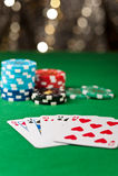 W partia pokeru prosty sekwens Obrazy Royalty Free