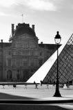 W Paryż Louvre Muzeum Obraz Royalty Free