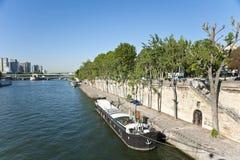 W Paryż Siene Rzeka Obraz Royalty Free
