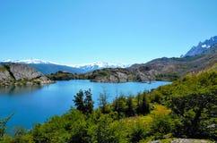 W-passeio na montanha do parque nacional de Torres del Paine Imagem de Stock Royalty Free