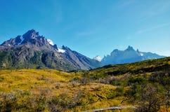 W-passeio na montanha do parque nacional de Torres del Paine Foto de Stock Royalty Free