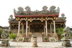 W Penang wielka uroczysta majestatyczna klanowa świątynia Zdjęcie Royalty Free