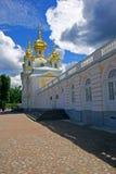 W Peterhof pałac kościół fotografia royalty free