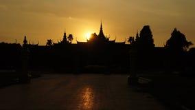 W Phnom Pałac Królewski Penh, Kambodża Obraz Royalty Free