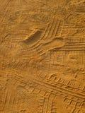 W piasku opona ślada Obraz Royalty Free