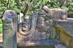 W pielgrzymki miejscu stary królewski miasto Anuradhapura na tropikalnej wyspie Sri Lanka Zdjęcia Royalty Free