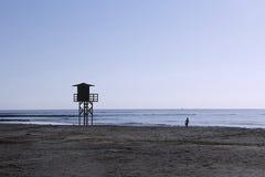 W plaży Obrazy Stock