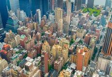 W połowie Grodzki Manhattan Obrazy Stock