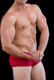 W połowie sekcja bez koszuli mięśniowy mężczyzna obraz stock