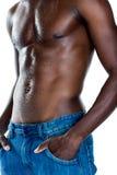 W połowie sekcja bez koszuli mięśniowy mężczyzna zdjęcie stock