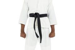 W połowie sekcja karate gracz zdjęcie royalty free
