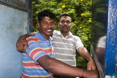 W pociągu indiańscy mężczyzna Zdjęcia Royalty Free