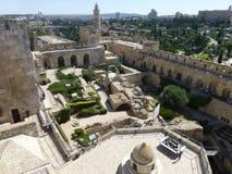 W podwórzu muzeum historia Jerozolima zdjęcia stock