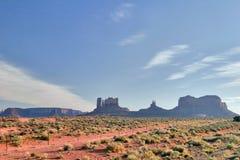 W Pomnikowej Dolinie pogodny wieczór arizonan fotografia royalty free