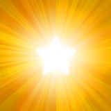 W postaci gwiazd słoneczna iluminacja Ilustracja Wektor