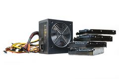 Power supply with cables unit for full ATX tower pc Stock Photography