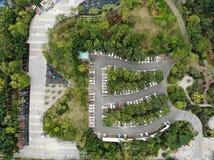 W powietrzu widok park zdjęcia royalty free