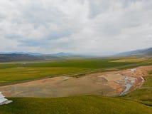 W powietrzu widok Zachodni Chiny, piękny krajobraz obrazy stock