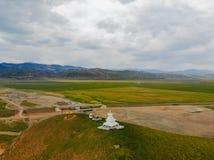 W powietrzu widok Zachodni Chiny, pi?kny krajobraz zdjęcie royalty free