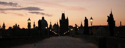 W Praga Charles Most Zdjęcia Royalty Free