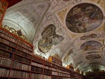W Praga Strahov Biblioteka. Fotografia Royalty Free