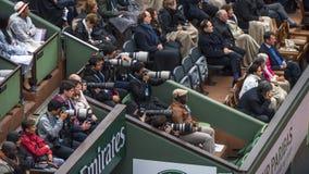 W prasowym holu Roland Garros Zdjęcia Stock