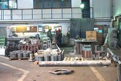 W produkcja warsztacie Zdjęcie Stock