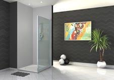 W prysznic Fotografia Stock