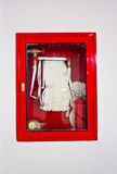 W pudełku pożarniczy wąż elastyczny Obraz Royalty Free