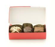 W pudełku czekoladowy cukierek Zdjęcia Stock